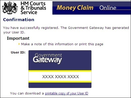 Government Gateway ID